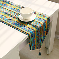 מלבני מעוטר / פרחוני ראנר לשולחן , תערובת כותנה חוֹמֶר שולחן אוכל במלון / שולחן Dceoration