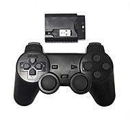 novo controlador de jogos sem fio para choque controlador sem fios PS2 / PS3 / PC (2.4GHz / preto)