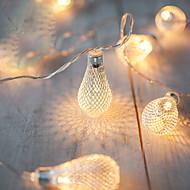 2m aa Batteriebetrieb LED-String-LED-Lichterketten Metall Tropf Weihnachtsbeleuchtung navidad luci nataleguirlande exterieur