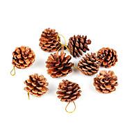 9 stk. Jul Dekoration Gaver Rulle Juletræspynt Julegave Jul Fyrrekoglen