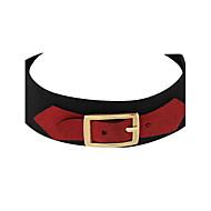 Halskæder Choker-halskæde Smykker Afslappet Enkelt design Læder Dame 1pc Gave Rød / Grå
