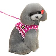 Elegant Lady Style Dots Harness with 120cm Leash  for Pets Dogs (Assorted Sizes and Colours)