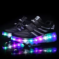 Tenisky-Syntetika-Pohodlné Light Up boty-Chlapecké-Černá Růžová-Běžné Atletika-Plochá podrážka