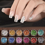 12 Nail Art Decoration tekojalokivi Pearls meikki Kosmeettiset Nail Art Design