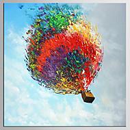 Kézzel festett Absztrakt / Landscape Festmények,Modern / Klasszikus Egy elem Vászon Hang festett olajfestmény For lakberendezési