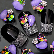 Милый - Стразы для ногтей - 5pcs - 1*1 - Металл - Пальцы рук