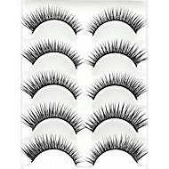 12 Patterns 5 Pairs Natural Black Long False Eyelashes Full Strip Lashes Crossed Eyelash for Eye Makeup with 3 Pieces Tattoos (Assorted No.)