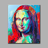 Hand-Painted Abstract / Abstract Portrait 100% Hang-Painted Oil PaintingModern / Classic One Panel Canvas Oil Painting For Home
