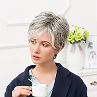 Fashion Cool Short Capless Wigs Natural Straight Human Ombre Hair