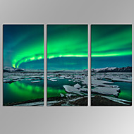 Canvas Set Abstrakt Landskab Moderne,Tre Paneler Canvas Horisontal Print Art Wall Decor For Hjem Dekoration