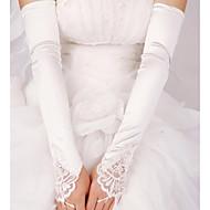 Longueur Coude Mitaine Gant Satin Elastique Gants de Mariée Printemps Eté Automne Hiver Paillettes Perles