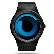 SINOBI 남성용 스포츠 시계 손목 시계 독특한 창조적 인 시계 석영 방수 충격 방지 스테인레스 스틸 밴드 캐쥬얼 럭셔리 블랙