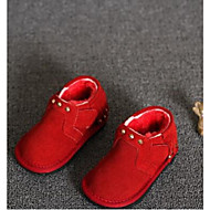Girl's Baby Boots Comfort Suede Casual Black Green Red