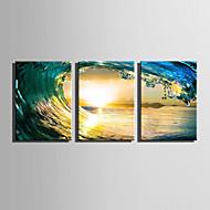 platno Set Pejzaž Moderna,Tri plohe Platno Vertikalno Ispis Art Zid dekor For Početna Dekoracija