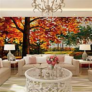 Art Deco / 3D Papel de Parede Para Casa Regional Revestimento de paredes , Tela Material adesivo necessário Mural , quarto Wallcovering