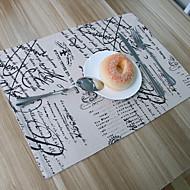 מלבני Print משטחי שולחן , תערובת כותנה חוֹמֶר שולחן אוכל במלון / שולחן Dceoration