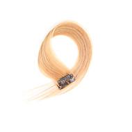 2 peças / set 4 clipes grampo em extensões do cabelo dourado 14inch 18inch 100% cabelo humano para as mulheres