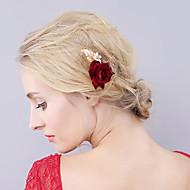 Women's Velvet Headpiece-Wedding Special Occasion Hair Pin 1 Piece