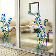 Blomstret Moderne Vinduessticker,PVC/Vinyl Materiale Window Dekoration