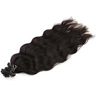 """neitsi 20 """"1 g / s keratiini fuusio u naulata kärki luonnollinen aalto 100% ihmisen hiusten pidennykset 1b #"""