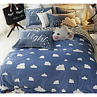 Neuartig Bettbezug-Sets 4 Stück Baumwolle Zeitgenössisch Reaktivdruck Baumwolle Doppelbett1 Stk. Bettdeckenbezug 2 Stk. Kissenbezüge 1