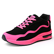 Women's Athletic Shoes Spring Summer Fall Winter Comfort Fleece Outdoor Casual Athletic Low Heel Lace-up Split Joint Black Green Red