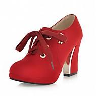 נשים-עקבים-עור פטנט דמוי עור-פלטפורמה נוחות חדשני-שחור כחול אדום-חתונה משרד ועבודה שמלה יומיומי מסיבה וערב-עקב סטילטו פלטפורמה
