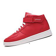 Γυναικεία παπούτσια-Αθλητικά Παπούτσια-Καθημερινό-Επίπεδο Τακούνι-Ανατομικό-Δέρμα-Μαύρο Κόκκινο Άσπρο