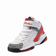 Sneakers-PU-Komfort-Drenge-Sort Blå Rød Hvid Grå-Fritid-Flad hæl