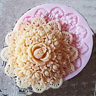 3d kerek virág szilikon forma fondant formák cukor kézműves eszközök csokoládé penész sütemények