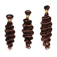 fremhævet hår Indisk hår Dyb Bølge 12 måneder 3 Dele hår vævninger