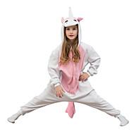 Kigurumi Pijamalar Unicorn Strenç Dansçı/Tulum Festival / Tatil Hayvan Sleepwear Halloween Pembe Solid Polar Kumaş İçin ÇocukCadılar
