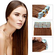 διπλή ταινία στις επεκτάσεις ανθρώπινα μαλλιών της Remy βραζιλιάνικη ταινία σε επεκτάσεις 30g - 50g 20pcs / pack ίσια ταινία επεκτάσεις