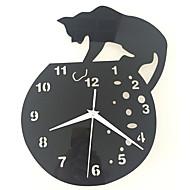 Moderne/Contemporain Traditionnel Décontracté Animaux Horloge murale,Rond Acrylique Intérieur Horloge