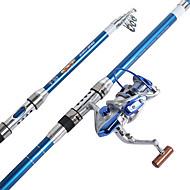 חכת ספינינג חכת ספינינג FRP 210/240/270/300/360 M דיג בים דייג במים מתוקים אחר דיג קרפיון דיג כללי גלילי דיג+ חכות דיג כחול מלכותי-