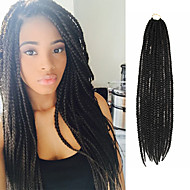 Box Braids Twist Braids Hårforlengelse 24Inch Kanekalon 24 Strands Strand 90g gram Hair Braids