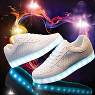 Unisex Running Shoes 2017 New Arrival LED Shoes LED light Luminous Shoes USB Charging  Basket Fashion Casual Sneakers Black /White