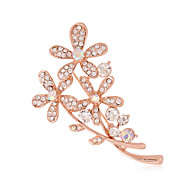 Women's Ol Fashion Alloy/Rhinestone Flower Brooches Pin Wedding/Party/Daily/Casual Luxury Jewelry 1pc