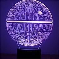 1pcs de kracht ontwaakt veelkleurige doods ster tafellamp 3d dood ster bulbing licht voor Star Wars-fans
