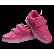 Za djevojčice Atletičarke tenisice Jesen Zima Udobne cipele PU Ležeran Ravna potpetica Vezanje LED Crna Ružičasta Bijela Ostalo