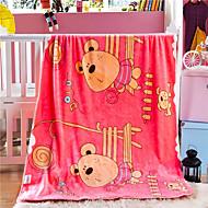 Velocino de CoralEstampado Desenhos Animados Lã / Acrílico cobertores