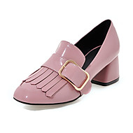 Women's Heels Spring Summer Fall Other Patent Leather Office & Career Casual Party & Evening Chunky Heel Tassel Black Pink Red