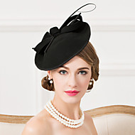 Women's Feather Wool Headpiece-Wedding Special Occasion Casual Fascinators Hats 1 Piece