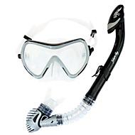 Dykkermasker Dykking Pakker Snorkler Svømmebriller Snorkelsett Tørrdrakt - topp Dykking og snorkling Svømming PVC Glass SilikonRød Lilla