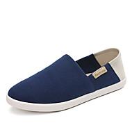 Damen-Loafers & Slip-Ons-Büro Lässig Sportlich-Stoff-Flacher Absatz-Komfort Espadrillas-Schwarz Blau Braun Grün Rot Grau Dunkel Grau