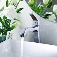 Modern Mittellage Breite spary with  Keramisches Ventil Einhand Ein Loch for  Chrom , Waschbecken Wasserhahn