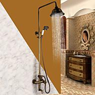 Starožitné Tradiční Sprchový systém Vodopád široký spary Včetne sprchové hlavice with  Keramický ventil Single Handle dva otvory for