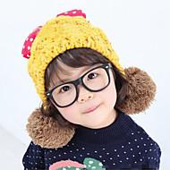 Tyttöjen Hatut ja lippikset,Talvi Knitwear-Pinkki Punainen Keltainen Beesi