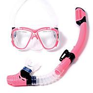 Dykking Pakker Snorkler Svømmebriller Snorkelsett Dykkermasker Tørrdrakt - topp Svømming Dykking og snorkling Plast Glass Silikon PVCGul