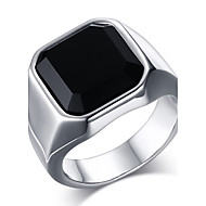 Men's Fashion 316L Stainless Steel Personality Vintage Onyx Jewel Agate Rings Casual/Daily 1pc